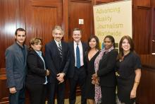 Trainer Xavier Serbia, middle, with the course participants who attended the Awards Ceremony in New York City.